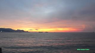 preview picture of video 'Malaysia, Penang, the west coast (Butterworth), the sunset'
