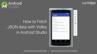 How to Fetch JSON data with Volley in Android Studio   Sanktips