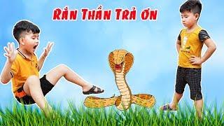 Cậu Bé Tham Lam Và Con Rắn Thần - Bài Học Cho Bé ♥ Min Min TV Minh Khoa