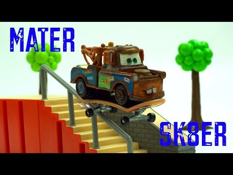 Mater Ska8er Runs Into Flippy The Skateboard Doing Some Sweet Tricks