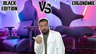 Lohnt sich ein Gaming Stuhl? RAZER Iskur BLACK EDITION vs ERGONOMISCHEN Büro Stuhl