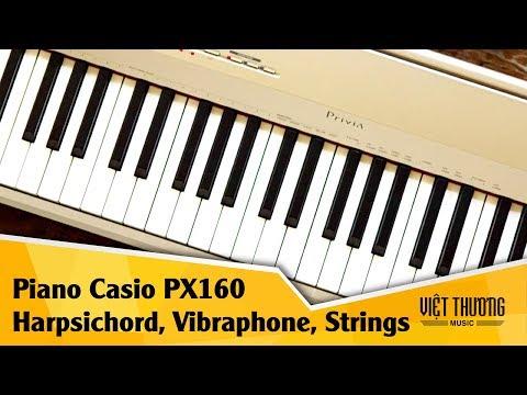 Demo tiếng Harpsichord và String trên đàn piano Casio PX160
