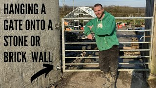 Hanging A Gate On A Stone Or Brick Wall Tutorial