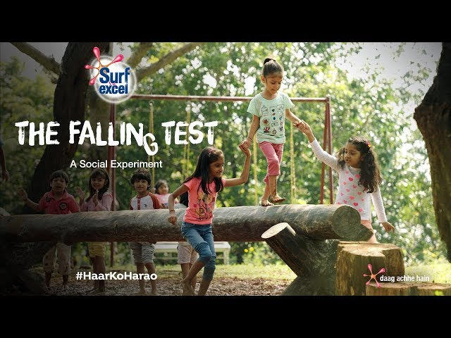 Surf excel: The Falling Test - A Social Experiment