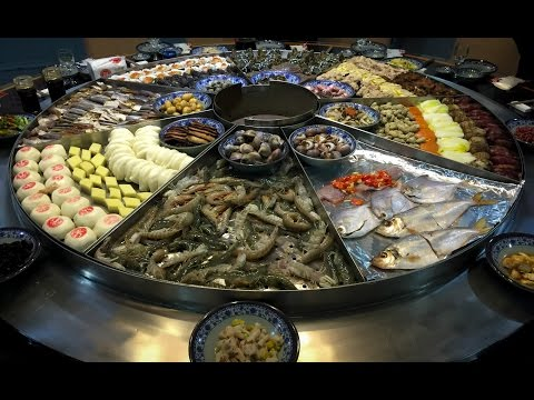 Video Chinese Seafood Steam Table