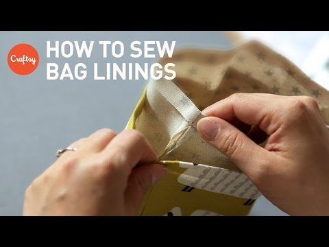 Bag Lining Sewing Techniques: Drop-in & Turned Linings | Sewing Bags Tutorial with Lisa Lam