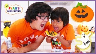 Kids Fun Baking Halloween Cookies Treat With Ryans Family Review!!!