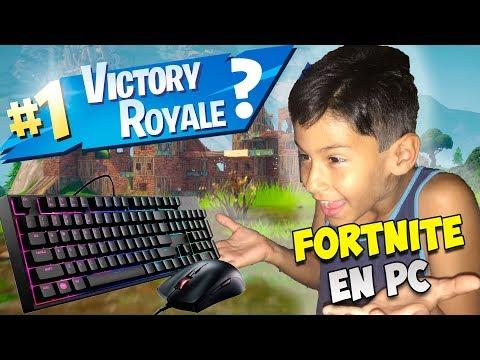 Mi PRIMER GAMEPLAY en PC!! | Fortnite Battle Royale