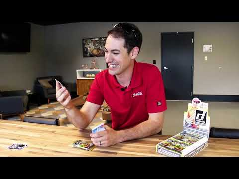 Joey Logano Reviews a Pack of NASCAR Panini America Trading Cards