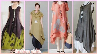 Latest Loose Maxi Dress/womens Casual Long Shirts Designs