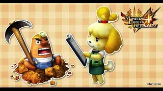 Isabelle  - (Animal Crossing) - Monster Hunter 4 Ultimate - Animal Crossing Felyne outfits