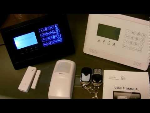GSM Wireless Home Alarm System Touch Panel Overview WWW.RAPIDRELAYS.COM
