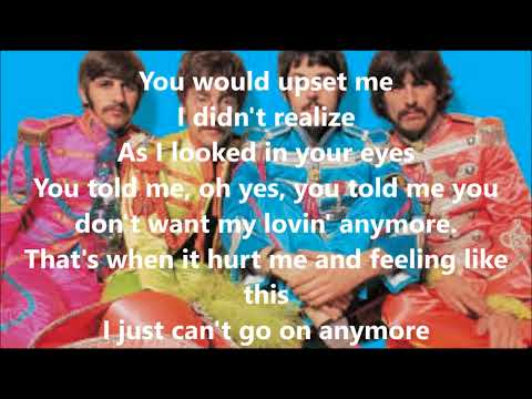 I need you with lyrics(The Beatles)