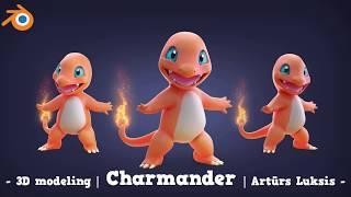 3D Modeling Charmander With Blender (timelapse)
