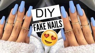 Kellie Sweet Shows You DIY 5 Min FAKE Nails At HOME!