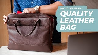 Leather Briefcases For Men: How To Identify QUALITY (4 AREAS TO CHECK) • Effortless Gent