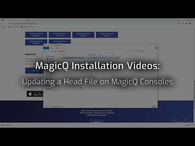 Updating a Single Head File on MagicQ Consoles