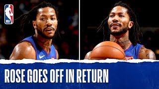 Derrick Rose GOES OFF In Return To Chicago
