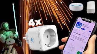 Smart Home 4er Pack im Test Smarte Steckdosen von TECKIN mit AMAZON ALEXA & GOOGLE HOME Integration