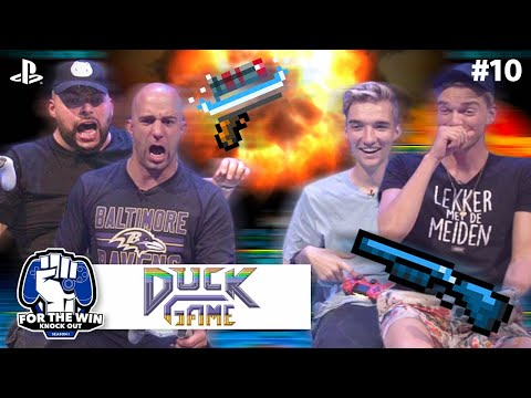 QUCEE & JAYJAY vs GIO & STEFAN | DUCK GAME - RAMPAGE | FOR THE WIN: KNOCK OUT S1 | #10