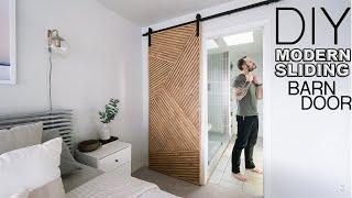 Building A Modern Sliding Barn Door