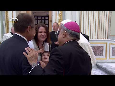 Prière avec les religieux  dans la Cathédrale d'Albano