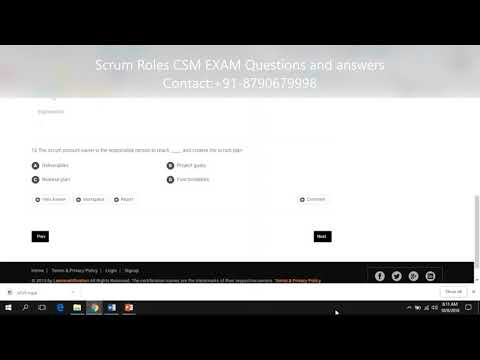 Scrum roles CSM EXAM questions and answers - YouTube