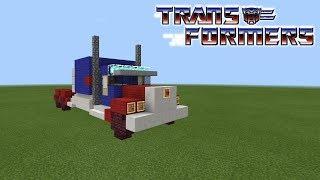 Minecraft How To Build Optimus Prime Tutorial