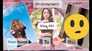 My Hair Color Transformation | My First VLOG | From Blonde To Chocolate Brown (Brunette)