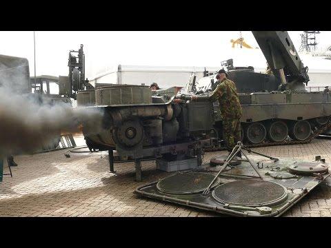 Tank Engine Sound  - Massive Diesel Power - Leopard 2 + PzH2000
