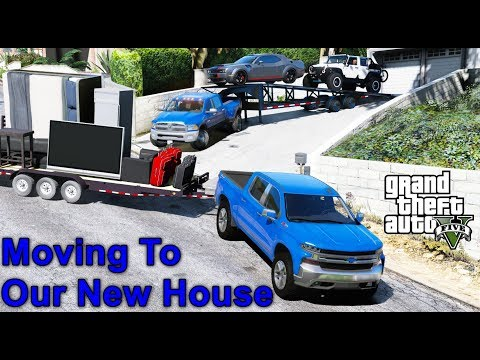 GTA 5 REAL LIFE MOD #65 - Transporting Our Cars To Our New House