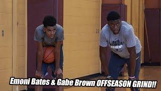 #1 Sophomore Emoni Bates & Michigan State's Gabe Brown Offseason GRIND!! Full Workout