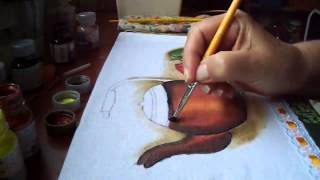 Pintando uma chaleira