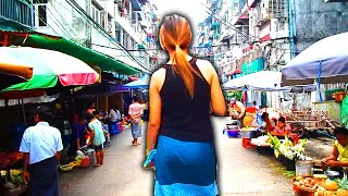 A walk through Chinatown in Yangon, Myanmar.
