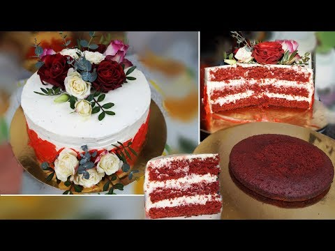 """Рецепт торта маме """"Красный бархат"""""""
