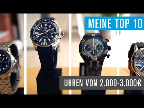 Uhren von 2000 - 3000 €: Sinn, Meistersinger, Breitling, Junghans, Tag Heuer & mehr