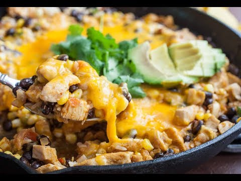 Cheesy Chicken Taco Skillet