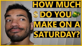 HOW MUCH DO YOU MAKE ON A SATURDAY? (POSTMATES VLOG 18)