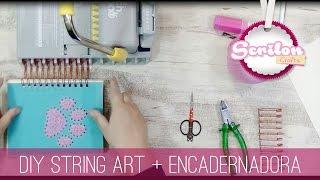 DIY String Art E Encadernação Com Encadernadora The Cinch