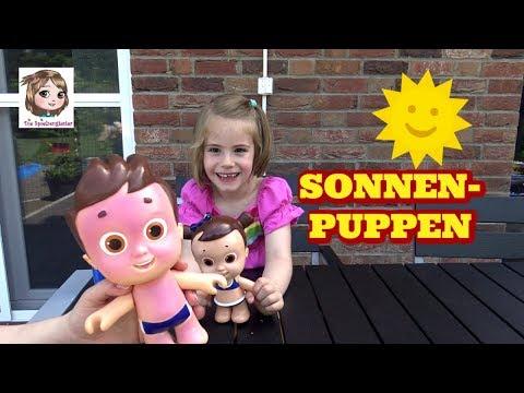 PUPPE MIT SONNENBRAND ☀️ Sonnenpuppen Lotte und Max werden ohne Sonnencreme rot   Nivea Sun