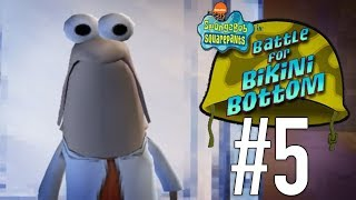Bikini Bottom is Under Attack!! | SpongeBob SquarePants: Battle for Bikini Bottom - PART 5