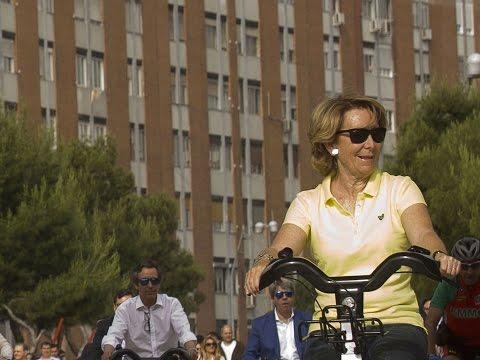 """Esperanza Aguirre: """"Decían que no iba a ser posible implantar las bicis en Madrid"""""""