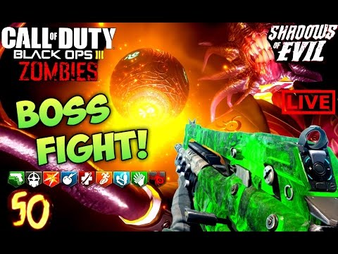 SHADOWS OF EVIL ROUND 100 ATTEMPT LIVESTREAM!- BLACK OPS 3