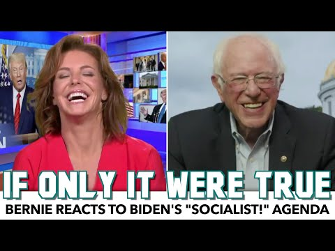 "Bernie Reacts To Biden's ""Socialist!"" Agenda In MSNBC Segment"
