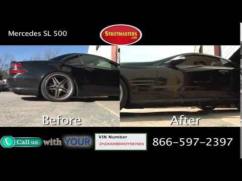 Mercedes SL 500 Before and After Suspension Conversion