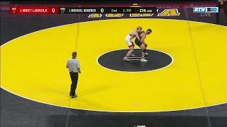 174 LBS: #3 Michael Kemerer (Iowa) vs. #6 Mikey Labriola (Nebraska)   2020 B1G Wrestling