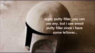 #3: Boba Fett Helmet DIY 3/4 - Sanding & Painting