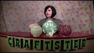 How To Make Sparkly Garden Gazing Balls