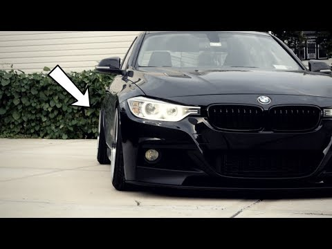I SLAMMED THE BMW!! (NEW WHEELS)
