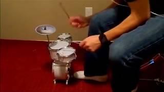 Wipeout Drum-over on mini desktop drum kit